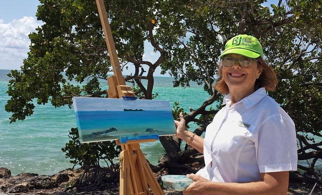"By using their talent to depict and spotlight the Keys' ecosystems, habitats, flora and wildlife, local Keys artists become ""stewards"" of those elements. Image: BJ Royster"