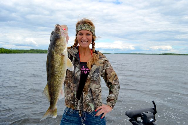 Lake of the Woods, Minnesota, is called The Walleye Capital of the World.