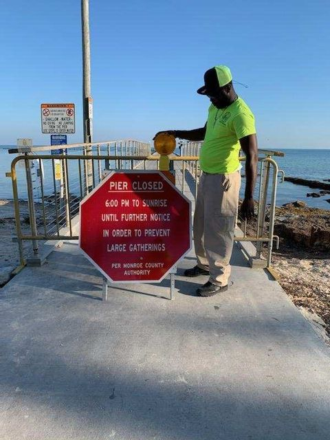 Reynolds Street Pier at Higgs Beach in Key West closes at 6 p.m. nightly.
