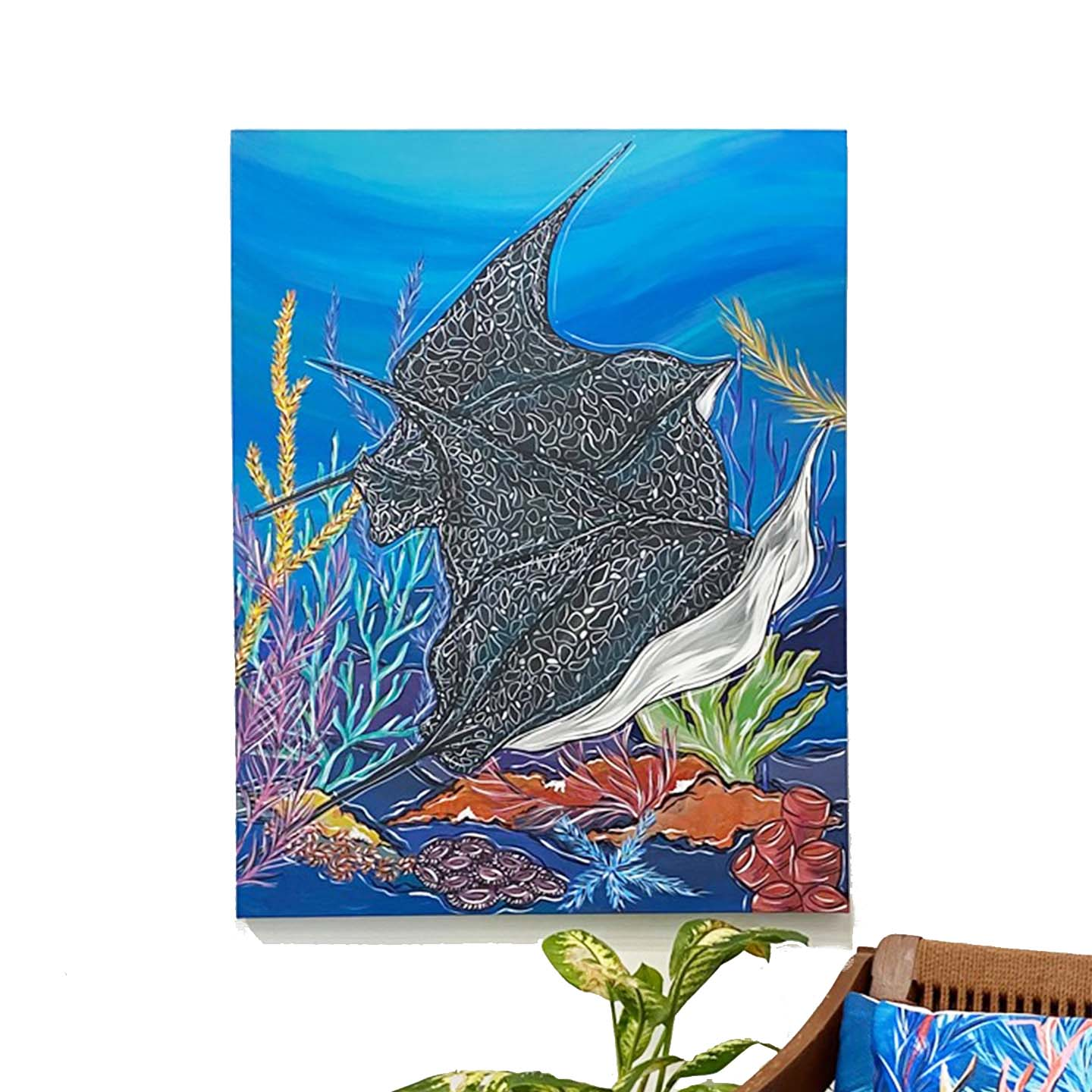 Self-taught, Cecil possesses a unique flair for capturing marine life with colorful personalities.