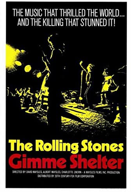 "Opening the festival is Albert Maysles' counterculture documentary ""Gimme Shelter"" about rockers The Rolling Stones, highlighting the 50th anniversary of the film about the last days of the Stones' 1969 U.S. tour."