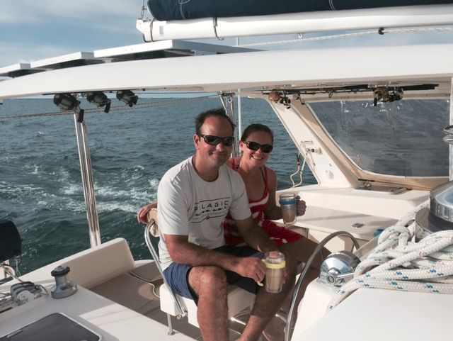 Kelly sailing with girlfriend Ananda Williams.