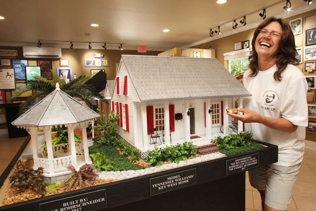 Tennessee Williams Museum features a scale model of Williams' Key West home.