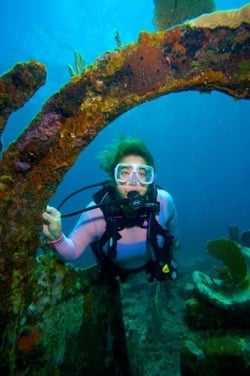 Amy Slate still dives at least two afternoons a week along the reefs and wrecks of Key Largo. Photos by Frazier Nivens