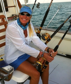 Andrea Paulson enjoys her time off fishing with her husband, Bobby, a flats-fishing guide.