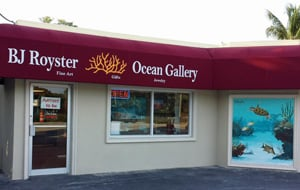 Royster's dream of an art gallery in the Florida Keys was finally realized in 2012. BJ Royster Ocean Gallery is located in Islamorada, near miler marker 81.6.