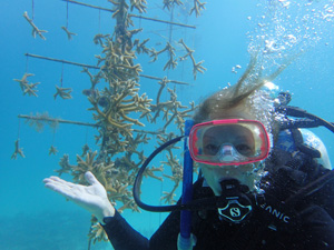 Royster has volunteered with the Coral Restoration Foundation, assisting with corals in their offshore nursery.