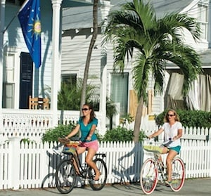 Keys neighborhoods are bicycle-friendly, especially in Old Town Key West.