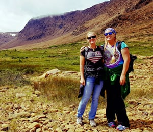Cheryl (right) recently found a new isolated paradise with her sister, in Newfoundland.