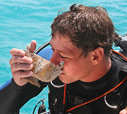Blue Water Ventures diver Michael DeMar sips champagne from the chalice. It is believed to come from the 1622 Spanish galleon Santa Margarita. Blue Water is searching for the remains of the Margarita under a joint-venture partnership with Mel Fisher's Treasures.