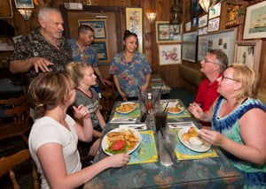 Prew's restaurants are well-frequented by Upper Keys residents and Miamians, and international television exposure has lured in clientele from all over the world.