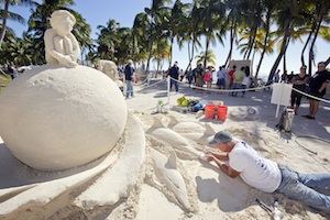 Immerse yourself in childlike fun by sharing a sand-sculpture workshop on the beach at the Casa Marina Resort.