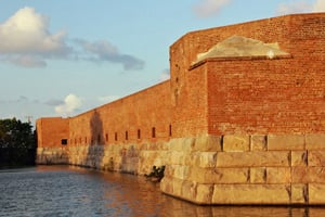 Fort Zachary Taylor fort, named after President Zachary Taylor, played important roles in Civil War and Spanish-American War history. It was designated a National Historic Landmark in 1973.  Image: Florida State Parks