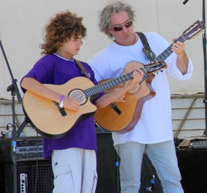 Feder and his son often gig together at Keys musical events.