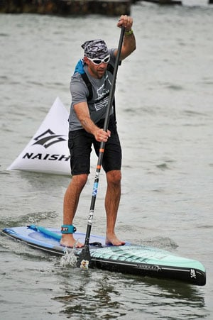 Paddleboard race competitors' age categories range from 9 and under to 75 and over.