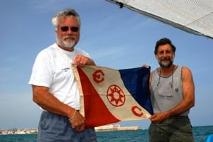 Craig Mullen and Ian Koblick (right) while exploring off the coast of Italy.
