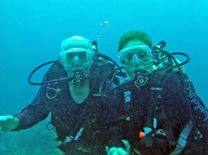 James and BJ during a dive together.