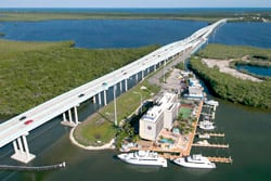 The first major span on the Overseas Highway going south from the Florida mainland is the new Jewfish Creek Bridge.
