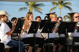 Keys Community Concert Band is comprised of  a diversity of musicians — professionals, retired residents, snowbirds, students, homemakers, scientists and teachers — who share the desire to play music. Catch Saturday Pops in the Park concerts each month between November and April.