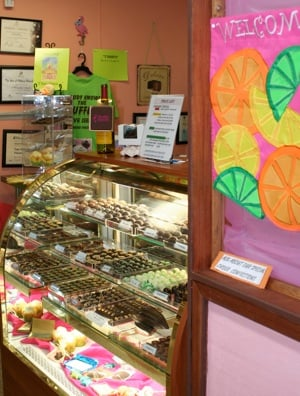 Thomas maintains a small neat-as-a-button chocolate factory that delights the senses.