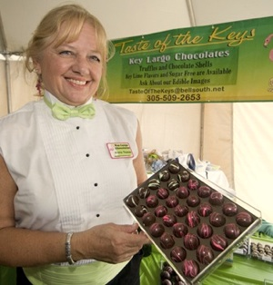 Thomas is a passionate chocolatier, and makes many local appearances at Keys festivals, including the annual Key Largo Food & Wine Festival, with her truffles.