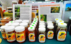 David and Ballestas hand-deliver Keez Beez goods to farmers' markets and outlets throughout Florida.