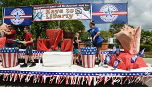 A float entry in the Key Largo Chamber of Commerce annual parade.