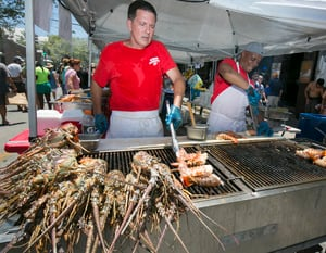 Fans can sample lobster dishes of all sorts at the Key West Lobsterfest Street Fair.