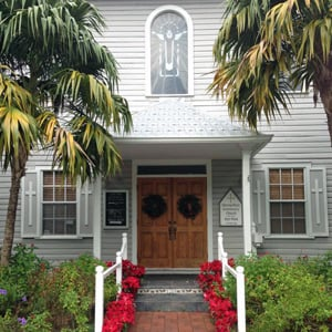 Ceremonies are often held at Key West's Metropolitan Community Church, located in a historic wooden building on a quiet, tree-lined side street.
