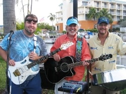 Howard (center) with MM24 band members Jason Miller and Dave Herzog.