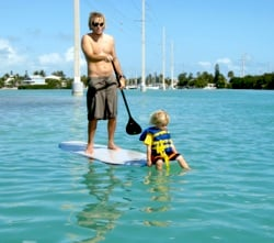 Paddleboarding, or standup paddling, is an all-in-the-family sport, perfect for calm summer months.