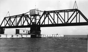 Moser Channel Bridge in the 1960s.