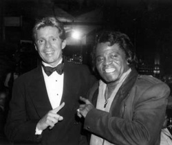 Nesbitt with the Godfather of Soul, James Brown.