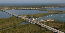 A panorama view of the new Jewfish Creek Bridge on the Florida Keys Overseas Highway in Key Largo, Fla.