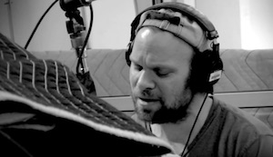 Norbert Leo Butz records for his Angel Band Project.