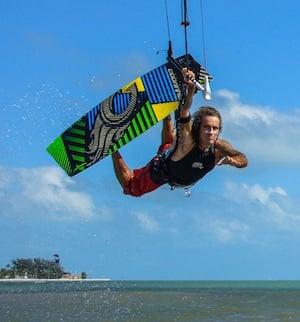 A pro boarder, Menta opened a kiteboarding training company called the Kitehouse.