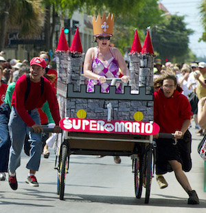 "Conch Republic Red Ribbon Bed Race is billed as ""the most fun you can have in bed with your clothes on."""