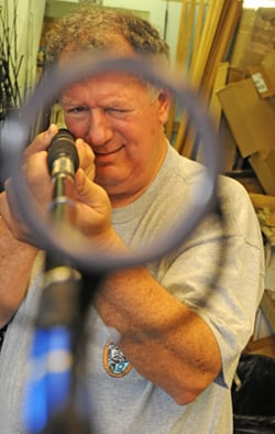 A master rod designer, Berry has made a red, white and blue rod for former President George Bush Sr.