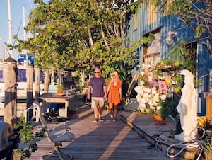 After eating out in Key West, stroll down the waterfront docks at Safe Harbor Marina along Front Street, greet the resident dogs and cats, discover works by local artisans who live and work in dockside lofts and soak up the oceanfront flavors.