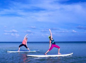 Serenity Eco Therapy, a progressive paddleboard program that practices mental balance through nature.