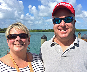 "The two ""Cs"" of SeaSquared Charters: Christy and Chris Johnson."