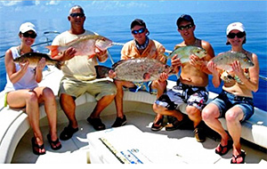 Family fishing is a specialty at SeaSquared Charters.