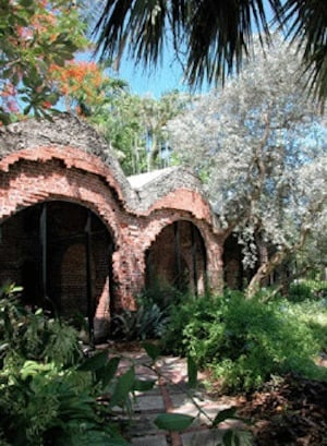 """Key West Reverie"" is designed as a series of vignettes staged through the grounds rather than sit in one place, encountering performances while discovering the site's weathered brick arches, abundant flowers and plants, towering trees and tranquil peace garden."