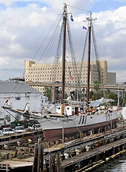 Historic western union sailing ship being preserved for Bureau western union