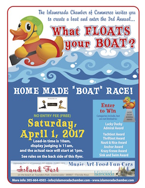 "Enter in or spectate at the homemade ""boat"" race on Saturday."