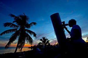 Amateur and professional astronomers are attracted to the unparalleled viewing of southern constellations, comets and stars in the Lower Florida Keys.