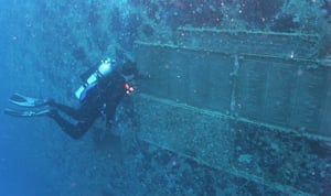 A diver explores the plaques years later on a dive along the Florida Keys Wreck Trek, a series of nine iconic wreck dives from Key Largo to Key West, of which the Spiegel Grove is a highlight.