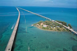 Other reminders of the historic railroad include Pigeon Key, a five-acre island that lies beneath the Old Seven Mile Bridge at Marathon.
