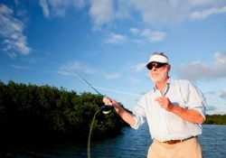 Sandy realized that fly fishing was not widely known in the region, and needing an outlet to stay active and engaged, he started a fly-fishing school in 1989.